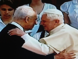 Benedict XVI & Shimon Peres in Jerusalem. All Rights Reserved. Marielena Montesino de Stuart. May 11, 2009.