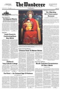 L'Osservatore Romano - Feature Story in The Wanderer by Marielena Montesino de Stuart, June 11, 2009