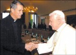 Fr. Joseph Fessio, SJ with Pope Benedict XVI in Castel Gandolfo