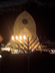 MENORAH on Ave Maria University grounds - December 2007