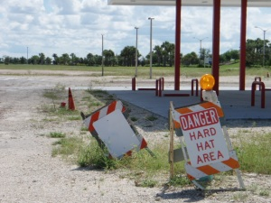 "Abandoned Construction Site of ""Coming Soon"" Gas Station in Ave Maria, Florida"