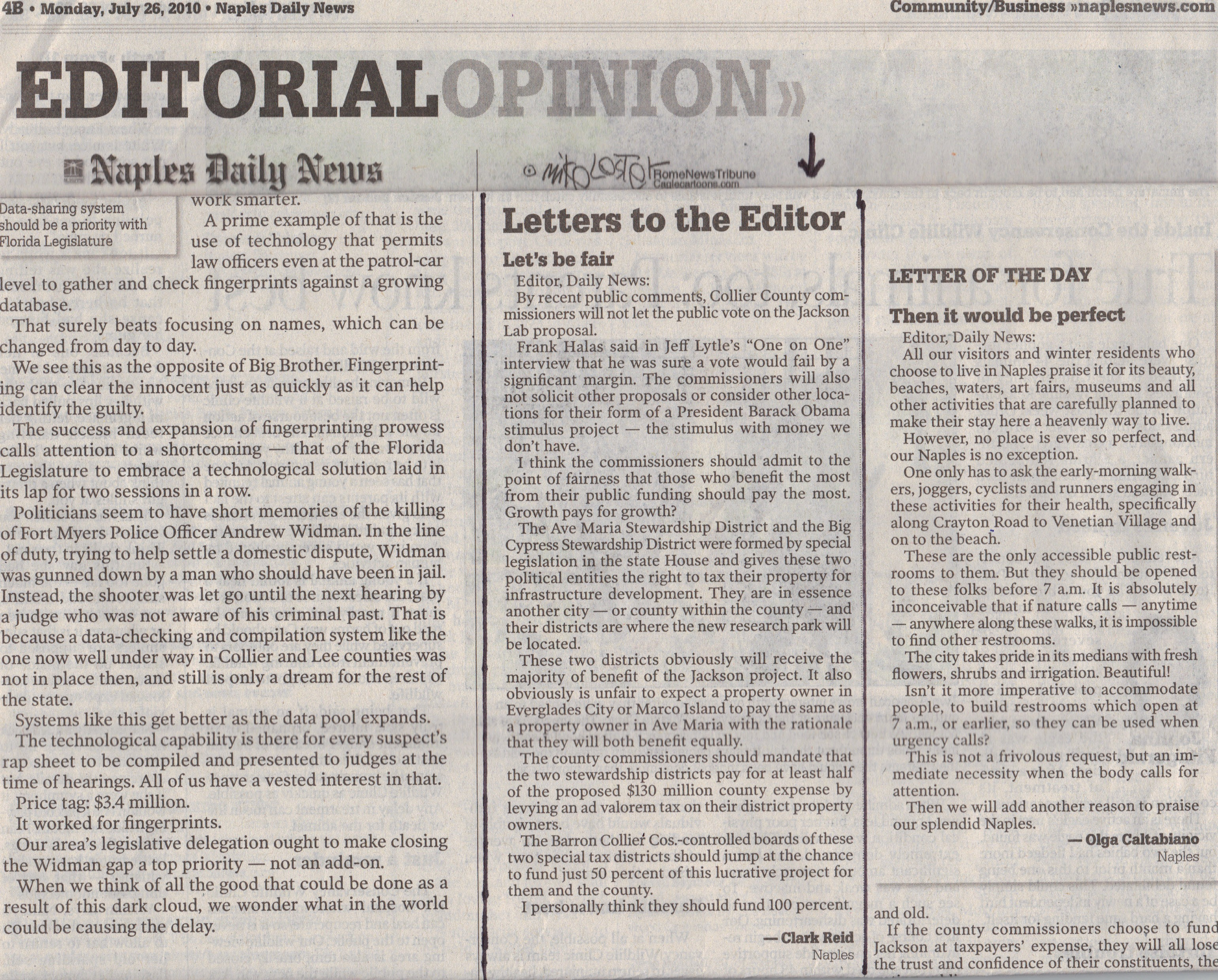 Policy Letter Editor Newspaper