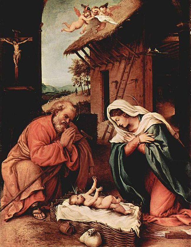 NATIVITY, by Lorenzo Lotto