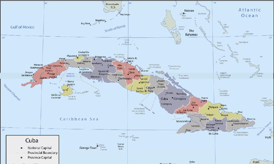 MAP OF CUBA MARCH 22 2011 Marielena Montesino de Stuart All rights re