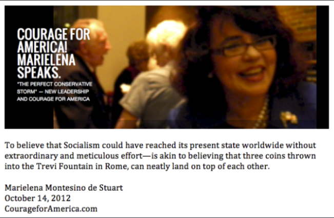 Copyright © 2012 Marielena Montesino de Stuart.  Socialism and Three Coins in the Fountain