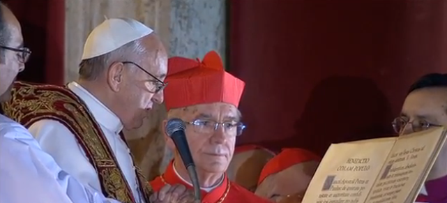 Francis and Cardinal Hummes, March 13, 2013.