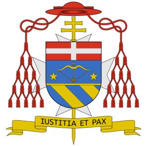 Coat of arms of Cardinal Andrea Cordero Lanza di Montezelomo