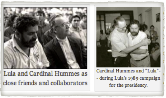 Cardinal Hummes and Lula