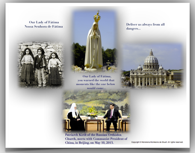 OUR LADY OF FATIMA-MAY 13, 2013 - Copyright © Marielena Montesino de Stuart. All rights reserved.