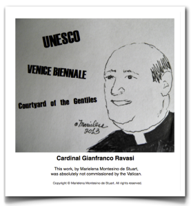 CARDINAL GIANFRANCO RAVASI - UNESCO, VENICE BIENNALE, COURTYARD OF THE GENTILES - BY MARIELENA MONTESINO DE STUART Copyright © Marielena Montesino de Stuart. All rights reserved. 2013-06-03 at 2.26.06 PM