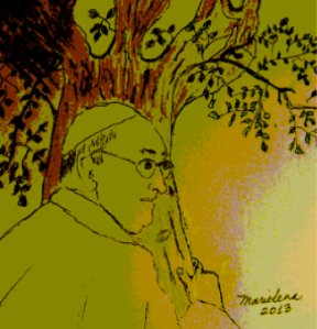 %22POPE%22 FRANCIS HUGS THE RED TREE - Copyright © Marielena Montesino de Stuart. All rights reserved.-Banner.