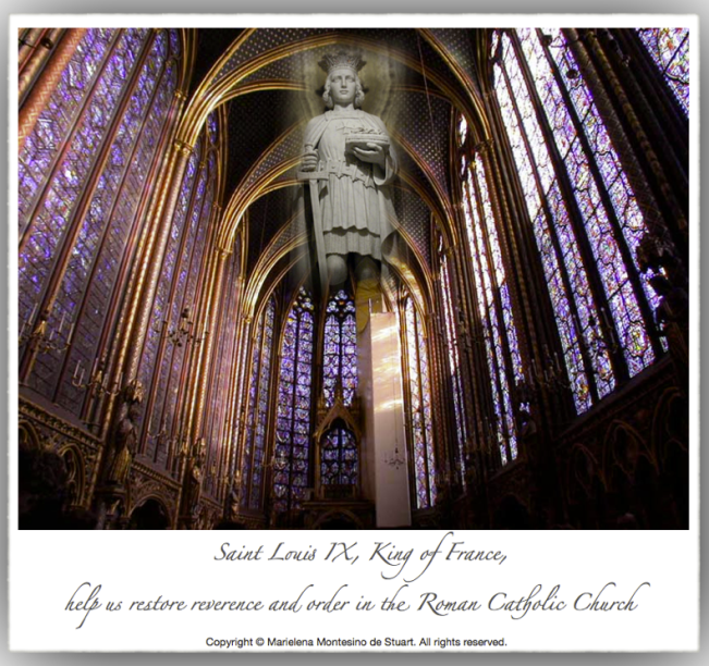 SAINT LOUIS IX, KING OF FRANCE - Copyright © Marielena Montesino de Stuart. All rights reserved.