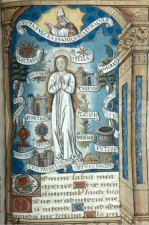 THE IMMACULATE CONCEPTION - BOOK OF HOURS, 16TH CENTURY, School of the Île-de-France, PARIS. THE DECIDING MOMENT OF OUR ETERNAL JOURNEY - BY MARIELENA MONTESINO DE STUART - 1