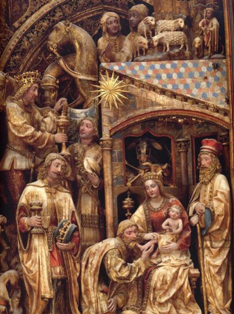 Adoración de los Reyes Magos. La Seo del Salvador (Zaragoza) - Marielena Montesino de Stuart - TheRomanCatholicWorld.com