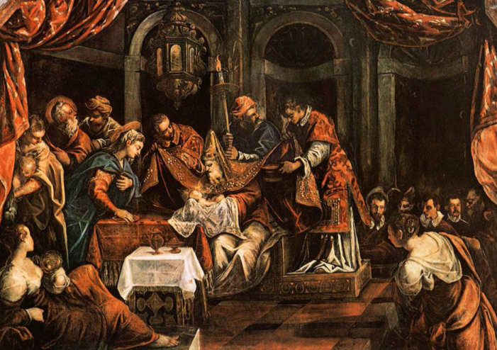 La Circoncisione (The Circumcision)- By Tintoretto (1518-1594)