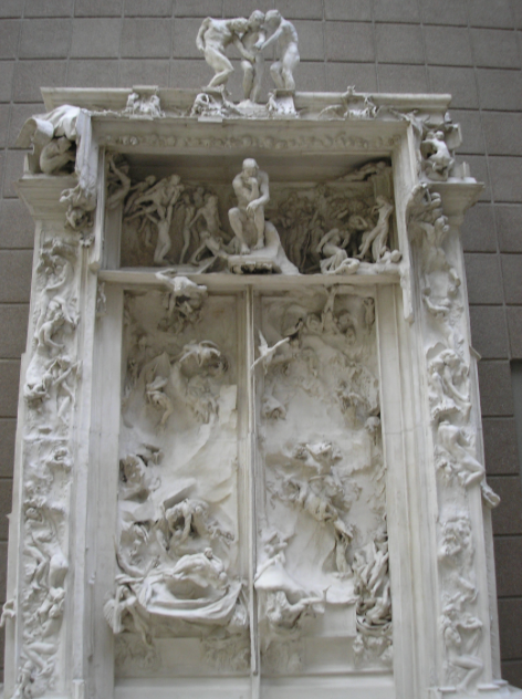 The Gates of Hell (Porte de L'Enfer) by Auguste Rodin (1880-1917). Musée d'Orsay,Paris.(Photo by deror avi, June 2005).
