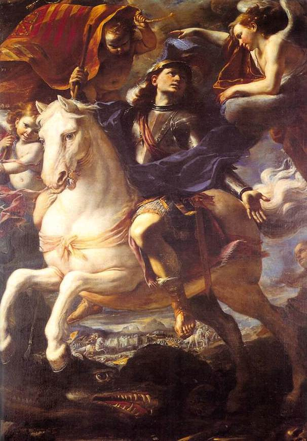 ST. GEORGE ON HORSEBACK - Masterpiece by Mattia Preti - Marielena Montesino de Stuart