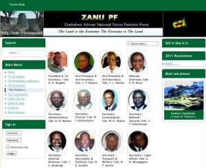 Robert Mugabe and his politburo
