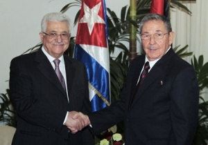 Mahmoud Abbas, President of the Palestinian Authority and Cuban Communist murderer, Raul Castro