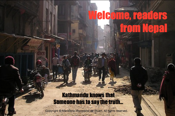 WELCOME, READERS FROM NEPAL - Copyright © Marielena Montesino de Stuart. All rights reserved.