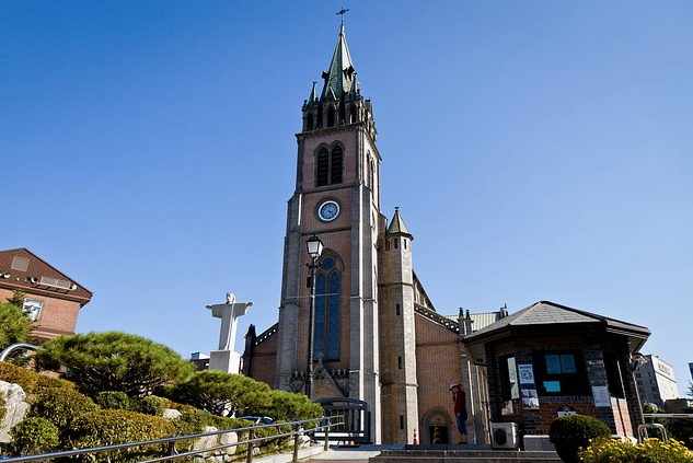 Marielena Montesino de Stuart - CATHEDRAL CHURCH OF THE VIRGIN MARY OF THE IMMACULATE CONCEPTION, ALSO KNOWN AS Myeongdong Cathedral, Seoul, South Korea.