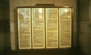 Replica of the 95 Theses by Martin Luther