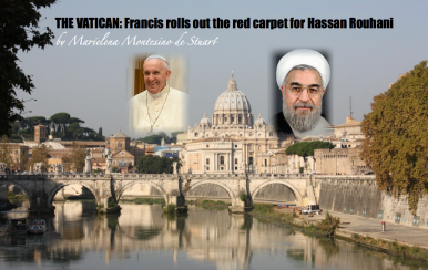 Francis rolls out the red carpet for Hassan Rouhani - Copyright © Marielena Montesino de Stuart. All rights reserved.