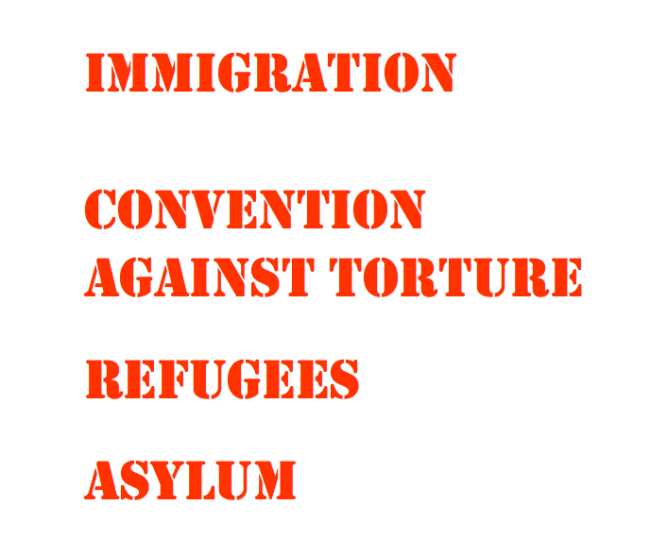 Immigration, Convention Against Torture, Refugees, Asylum - Copyright © Marielena Montesino de Stuart. All rights reserved.