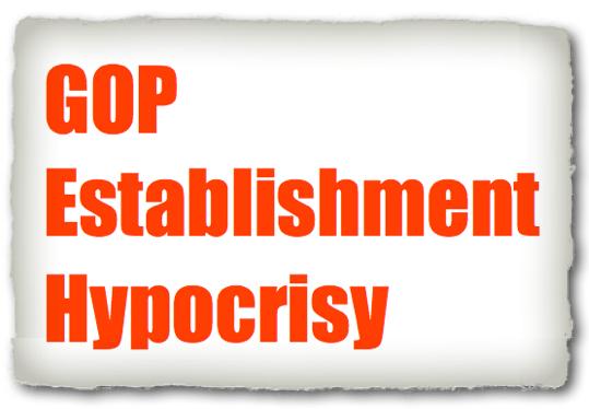 GOP ESTABLISHMENT HYPOCRISY - Copyright © Marielena Montesino de Stuart. All rights reserved.
