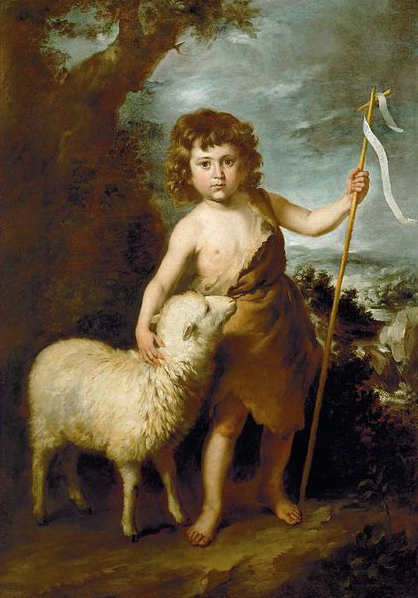 ST. JOHN THE BAPTIST AS A CHILD by Bartolomé Esteban Murillo - circa 1650