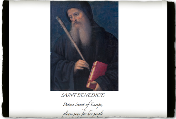 SAINT BENEDICT - Copyright © Marielena Montesino de Stuart. All rights reserved.