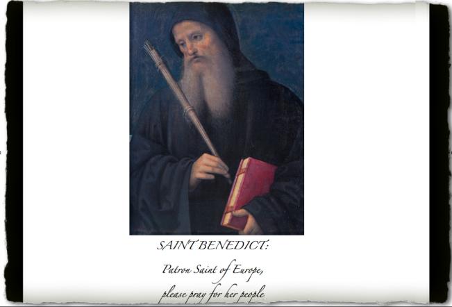 SAINT BENEDICT - Copyright © Marielena Montesino de Stuart. All rights reserved.
