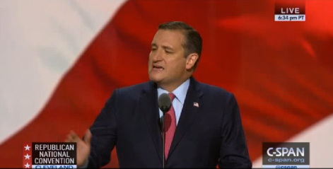 Ted Cruz is booed off the stage at the 2016 Republican National Convention